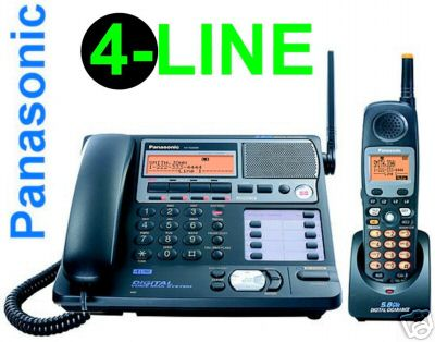 kx tg4500 panasonic 4 line cordless phone system user guide download rh telephonesonline com au 4-Line Telephone Cordless Phone Sets