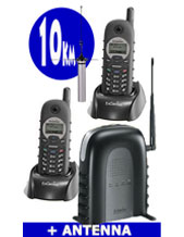 "2 PACK EnGenius DURAFON SN902 Long Range Phone 1 x PSTN Line, Including 20 Metre Antenna, Ariel. ""Long Distance reception up to 10 KM Long Range"" Ideal for MINING Exploration, Farming & Industrial"