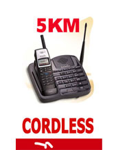 "1 X SMALL NEW Long Range Cordless Phone ""Long Distance reception up to 5 KM Long Range"" Ideal for Farming & Industrial, model SN911 Up to 8 Additional Handsets"