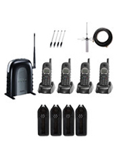 Engenius SP935-SIP Quad Pack-IND20 1 x 10 Line SP935 Base, 4 x SP935 Handsets, 4 chargers, 8 Batts, 4 Belt Clips, 4 Short HS Ants and 4 Long HS Ants, 4 Durapouches, IND20L INDOOR DOME ANTENNA KIT and TC-12-6000 UPS