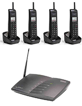 Engenius SP935-SIP Quad PackA- 1 x 10 Line SIP SP935 Base, 4 x SP922-SIP Handsets, 4 Chargers, 4 Batteries, 4 Belt Clips, 4 Short Handset Antenna and 4 Long Handset Antenna