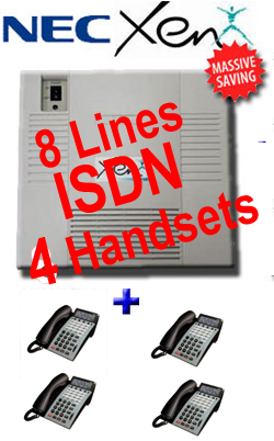 Secondhand - Refurbished Nec Xen Axis Telephone System,  8 ISDN Lines, Up to 20 Digital Handsets