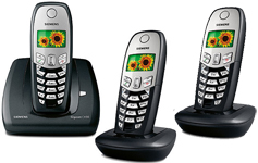 Cordless Telephone Siemens Gigaset C450 DECT plus TWO Additional C45 Cordless Handsets