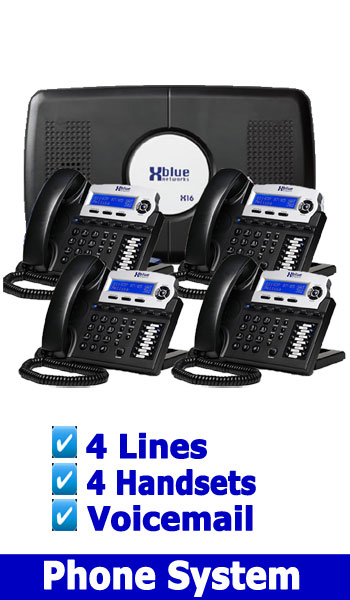 NEW BUSINESS PHONE SYSTEM, 4 Lines up to 4 Handsets Voicemail