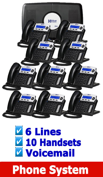 X Blue NEW BUSINESS PHONE SYSTEM, 4 Lines up to 16 Handsets (included is Voicemail) 6 Lines 10 Digital Handsets.