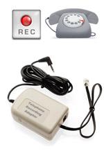 Telephone Recording Adaptor jack with 3.5mm plug (Handset, Phone Recording jack)