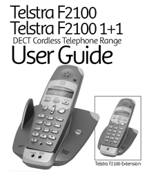 F2100 Telstra User Guide cordless how to where buy F2100 Instructions Manual