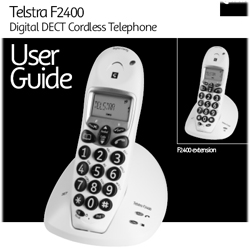 F2400 Telstra User Guide cordless how to where buy F2300 Instructions Manual