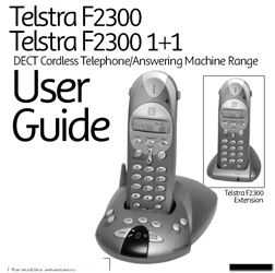 F2300 Telstra User Guide cordless how to where buy F2300 Instructions Manual