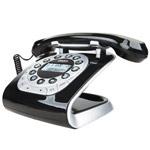 Modern 15 black Retro Style Corded Phone