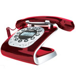 Modern 15 red Retro Style Corded Phone
