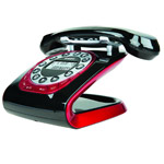 Modern 35 black Retro Style Cordless Phone