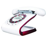 Modern 35 white Retro Style Cordless Phone