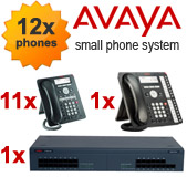 Avaya IP500 Telephone System with 12 Handsets