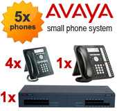 Avaya IP500 Phone System with 5 Handsets
