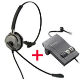 BTC M501 Corded Headset plus Plantronics M22 headset amplifier