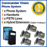 Commander Vision Refurbished Phone System 5 Handsets