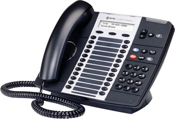 Mitel Networks 5224 IP Phone Handset offers more functionality with 24 programmable keys and 10 fixed functions keys.
