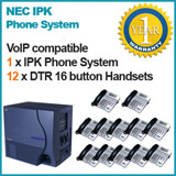 NEC IPK Phone system 4x PSTN Lines 12x NEC DTR 16 button Handsets - Refurbished Used Pre-Owned