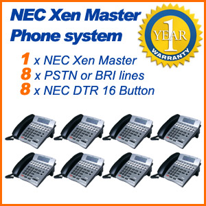 NEC Xen Master Phone system 8x Lines 8x Phones Refurbished