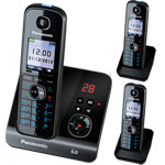 Panasonic KX-TG8163 Cordless Phone Triple Pack with digital answering machine (KX-TG8163)