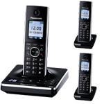 Panasonic KX-TG8563 Cordless Phone Triple Pack with digital answering machine (KX-TG8563)