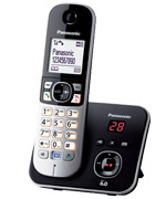 Panasonic KX-TG6821 Cordless Phone, Noise Reduction, Call Blocker, Answering Machine (KX-TG6821)