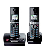 Panasonic Premium DECT KX-TG8032 Cordless Phone & 18 min Answering Machine +1 Additional Handset (KX-TG8032)