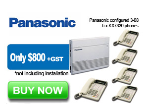 Panasonic Refurbished Phone System 4 Lines and 5 Handsets