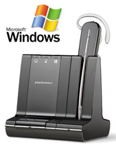 Plantronics Savi 3-in-1, Wireless Convertible Headset Microsoft Lync Certified (84001-04)