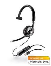 Plantronics Blackwire C710-M Monaural Wideband USB Headset with WIRELESS Bluetooth Mobile QD, Microsoft Lync Certified (87505-01)