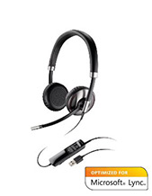 Plantronics Blackwire C720-M Stereo Wideband USB Headset with WIRELESS Bluetooth Mobile QD, Microsoft Lync Certified (87506-01)