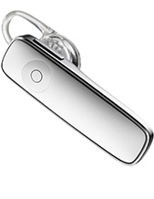 Plantronics M165 White Bluetooth Headset (White), A2DP, Multipoint, Voice-Answer (88130-09)