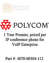 1 Year Premier Technical Support License, priced per IP conference phone for VoIP Enterprise