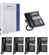 Samsung DCS24 Phone System 6 Lines 5 handsets