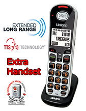 Uniden SSE 06 Additional Extra Cordless Handset to suit Visual & Hearing Impaired Telephone System SSE35, SSE37 Series